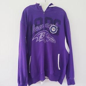 NFL Baltimore Ravens Zip Front Hoodie Sz.XXL